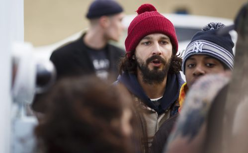 Shia LaBeouf (C) in front of his anti-Trump art installation outside of the Museum of the Moving image in Queens on Jan. 26, 2017.(Photo: JUSTIN LANE, EPA)      Shia LaBeouf is off the hook for an assault arrest in connection with a January scuffle at a Queens museum over his digital art... http://usa.swengen.com/shia-labeouf-assault-charges-dropped-for-lack-of-evidence/