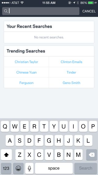 wildcard iPhone search screenshot