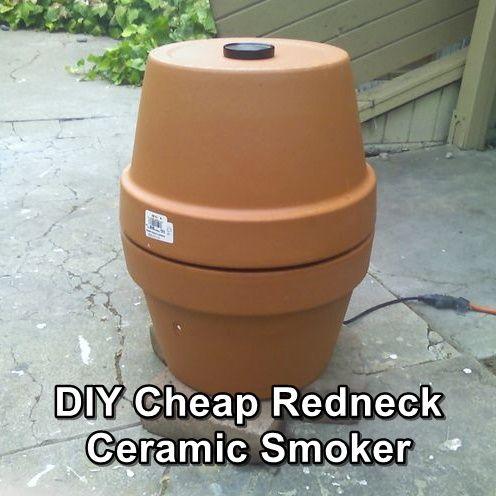 DIY Redneck Ceramic Smoker, food, survival, shtf, homesteading, survival, low cost, smoker, DIY, smoke food, how to smoke food, food preservation,