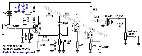 zvex fuzz factory schematics