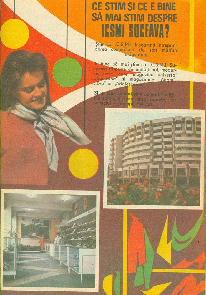 Reclama Magazin Bucovina, Adam si Eva Suceava - #retro #advertising #romania #suceava