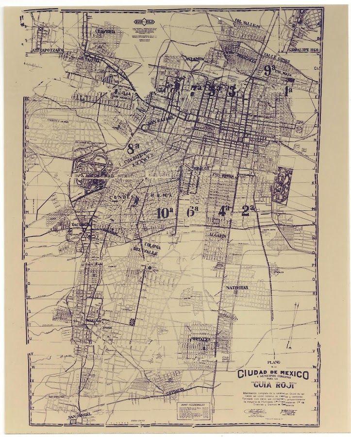 Ciudad de México en 1930 por la afamada guía Roji