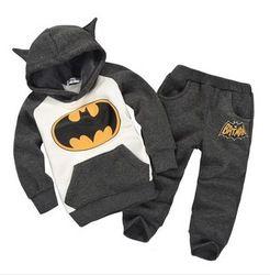 Online Shop 2013 New 100% cotton fashion winter batman hooded baby boy clothing sets kids casual clothes children outwear plus size|Aliexpress Mobile