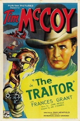 THE TRAITOR MOVIE POSTER Tim McCoy RARE HOT VINTAGE