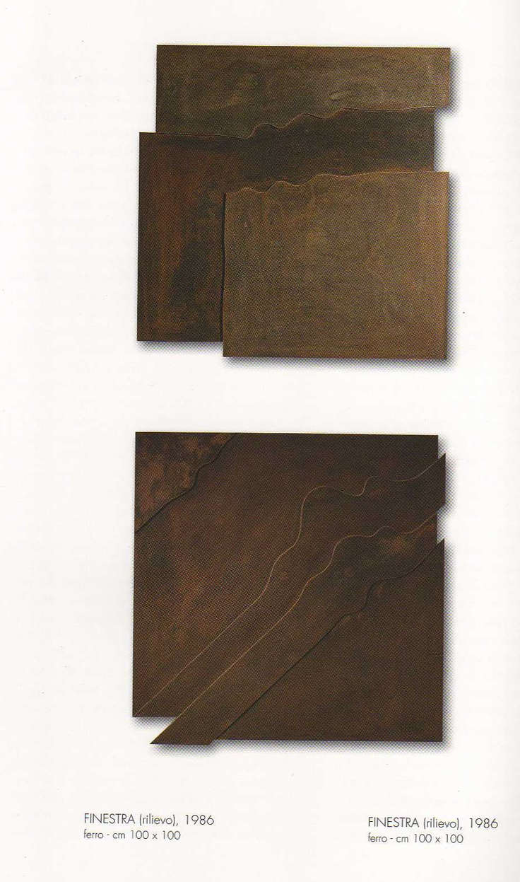 """Windows""  Metal sculpture by Roberto Lanaro."
