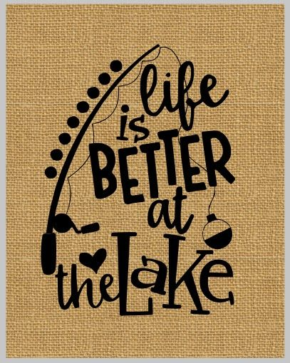 life is better at the lake commercial design silhouette cameo