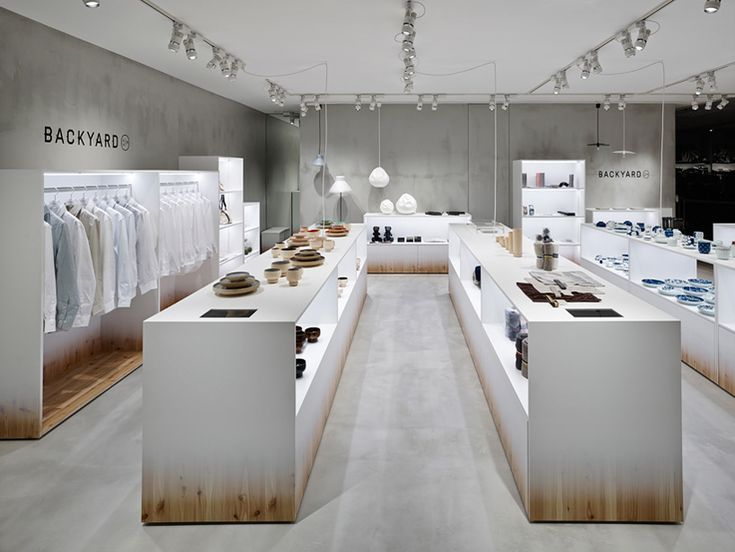 Nendo adds backyard elements to retail space #retail #design