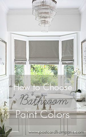 Tips for choosing the best bathroom paint colors for your home.