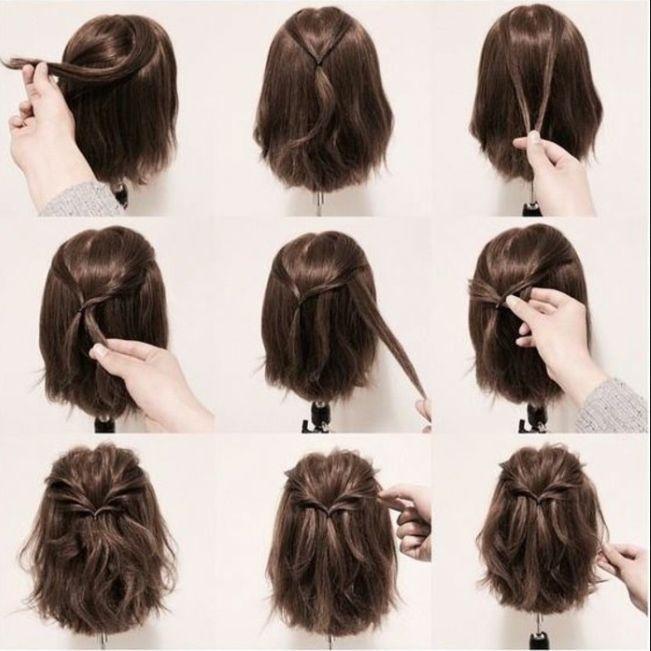 Kurze Frisuren Fur Abschlussball 2018 Hairdos Short Short Hair Updo Prom Hairstyles For Short Hair Hair Styles