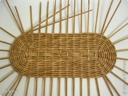 Поделка изделие Плетение МК корзинки с крышкой Бумага газетная Трубочки бумажные фото 6
