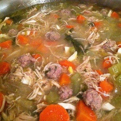 Italian Grandma's Soup - Some call variations of this Italian Wedding Soup...others Escarole Soup. This recipe is all that and then some!