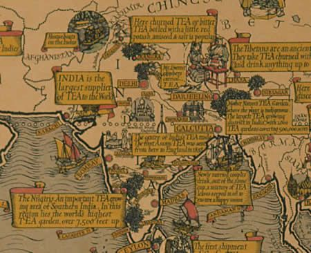 Best Maps Images On Pinterest Antique Maps Cartography And - Map of teas