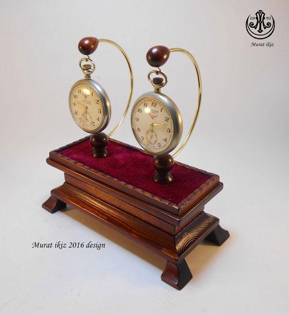 Wooden Hand Made Pocket Watch Stand & Holder ( Designer&Maker Murat İkiz )
