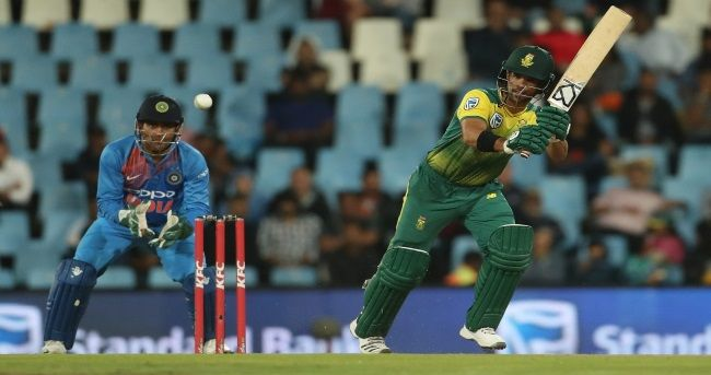South Africa rode on some powerful batting by Heinrich Klaasen and Jean-Paul Duminy to defeat India by six wickets in the second Twenty20 International (T20I) at the SuperSport Park here on Wednesday.
