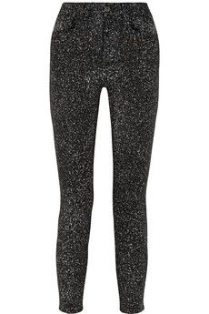 Proenza Schouler Speckled cropped high-rise skinny jeans | NET-A-PORTER