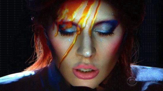 Lady Gaga Makes an Incredible David Bowie–Inspired Transformation at the Grammys