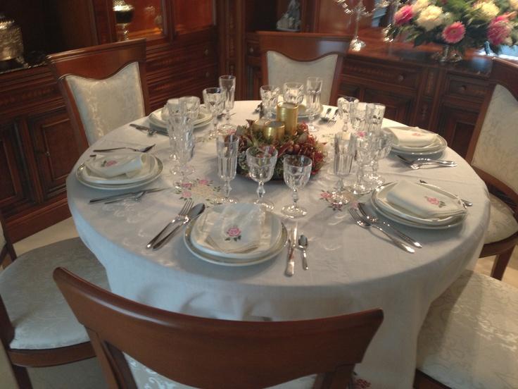 Decoración mesa cena de Noche Buena 2012!
