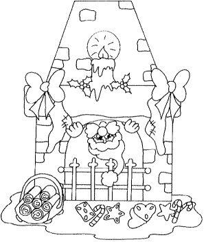 der weihnachtsmann im kamin ausmalbild  malvorlage weihnachten | weihnachtsmann, malvorlagen