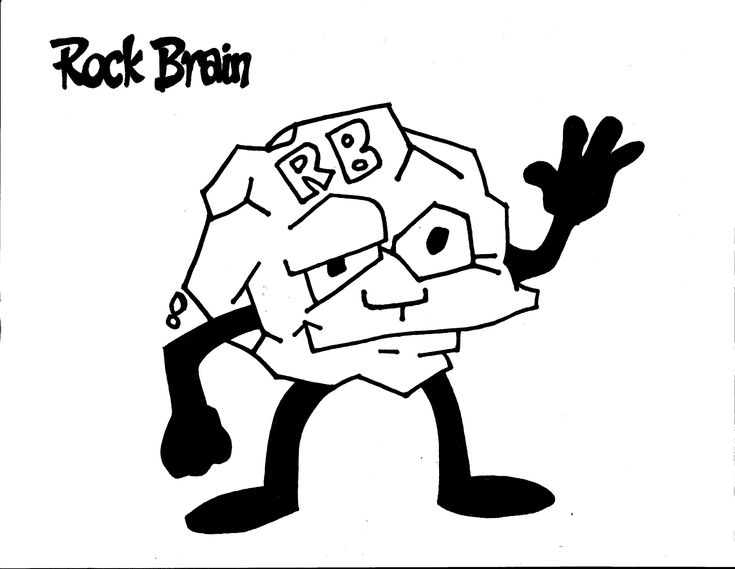 Rock Brain Coloring Page Team Unthinkables Superflex Social Thinking