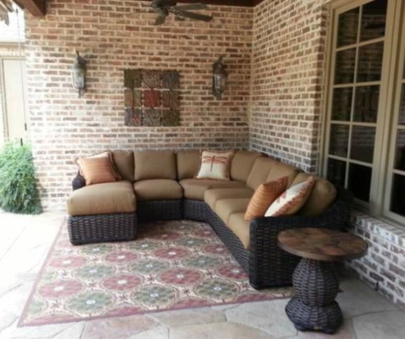 South Hampton Sectional By Lane Venture   Patio Furniture