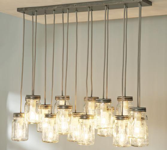 new home lighting. Mason Jar Pendant Light With Edison Bulbs From Pottery BarnI Love Jars New Home Lighting