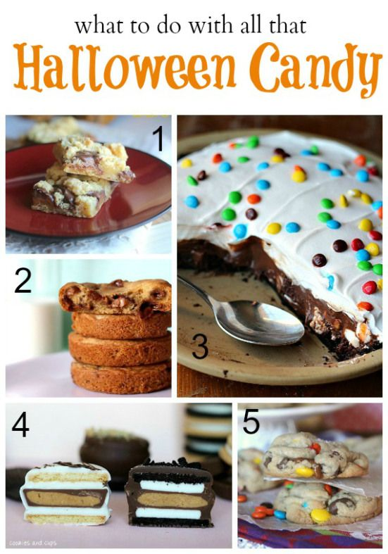 Recipes using leftover Halloween candy!