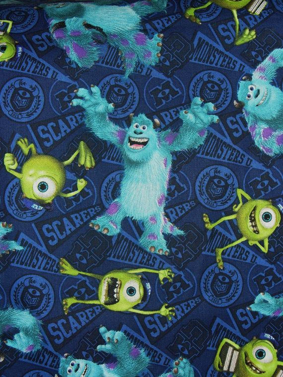 17 best images about monsters university party fiesta for Monster themed fabric