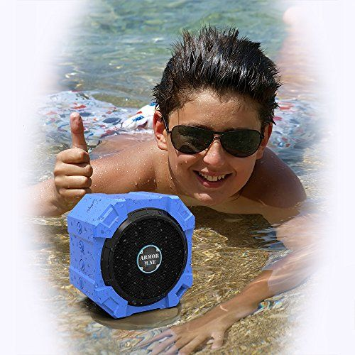 Bluetooth Speaker for iPhone and Other Mobile Devices, Waterproof, Rugged, Shockproof, Dustproof, Indoor/Outdoor, Hi-Def Bass, by ARMOR MiNE http://www.amazon.com/Bluetooth-Waterproof-Shockproof-ARMOR-MiNE/dp/B00R70KTV6/?ie=UTF8&ARMOR+MiNE&seller=AIIMD6XZX0HDQ&keywords=wireless+speakers
