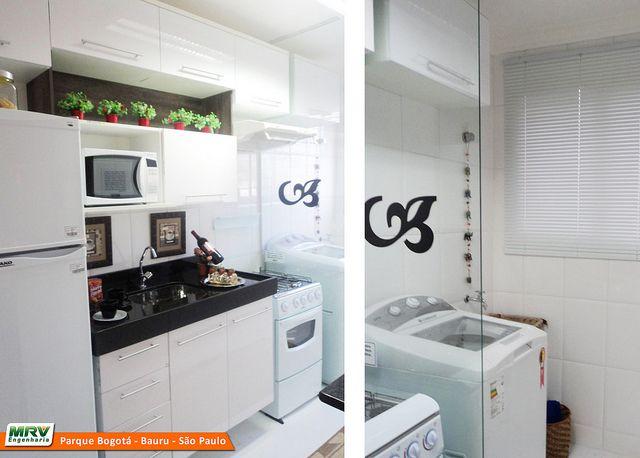 MRV Apartamento Decorado em Bauru - SP - Cozinha e Área de Serviço