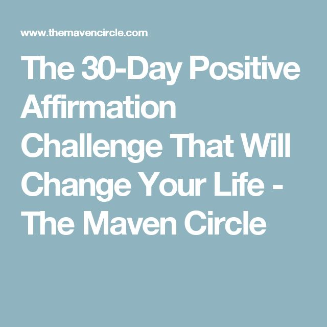The 30 Day Positive Affirmation Challenge That Will Change
