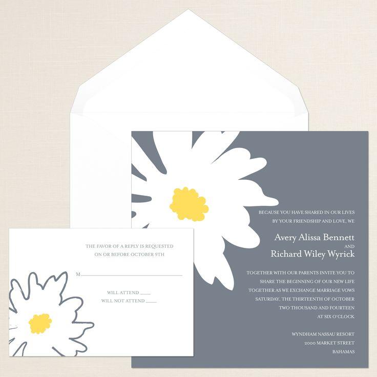 Exclusively Weddings Bold Daisy Wedding Invitation pops