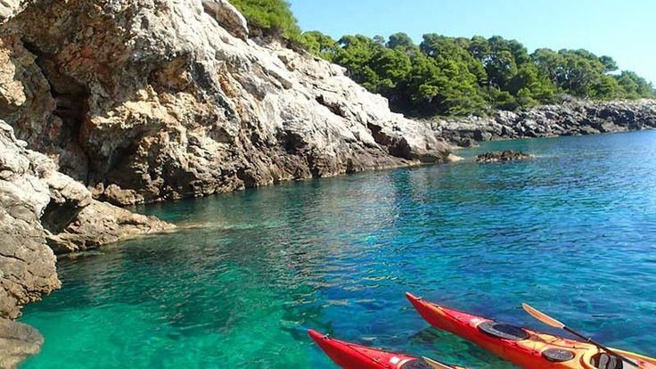 Sea kayaking holidays in Croatia, week long sea kayaking adventure on the Elaphite Islands Lopud and Sipan near Dubrovnik. Active vacation in Croatia