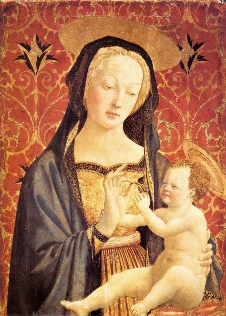 Мадонна с младенцем. После 1435-37 г. Доменико Венециано. Темпера по дереву. Коллекция Беренсона, Флоренция.