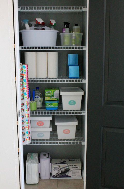 Organizational And Storage Ideas For The Cleaning Supplies Closet