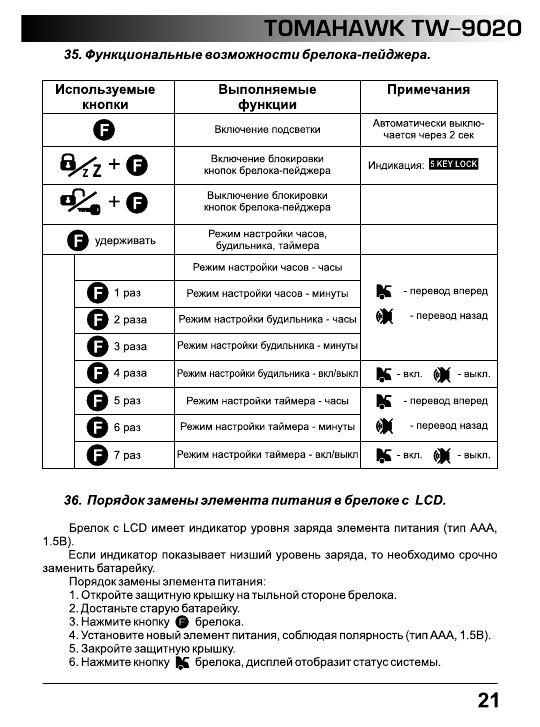 Инструкция к томагавку 9020