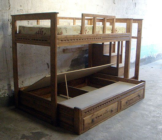 Custom Made Beds Image Gallery: 13 Best Images About Triple Bunk Bed Plans On Pinterest