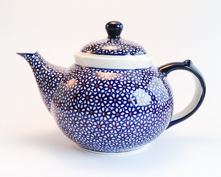 Teapot 1.25l #polishpottery #boleslawiec #handmade # potterycorner