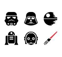 Star Wars Silhouette Clip Art  – Clipart Free Download