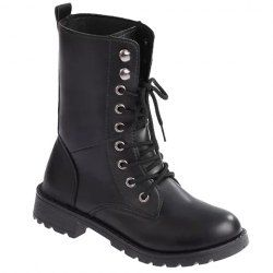 SHARE & Get it FREE | Trendy Women's Combat Boots With Black and Round Toe DesignFor Fashion Lovers only:80,000+ Items • New Arrivals Daily • Affordable Casual to Chic for Every Occasion Join Sammydress: Get YOUR $50 NOW!