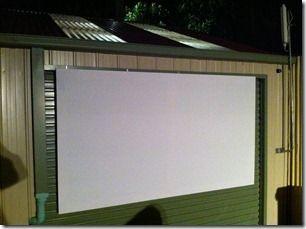 Easy DIY outdoor projector screen