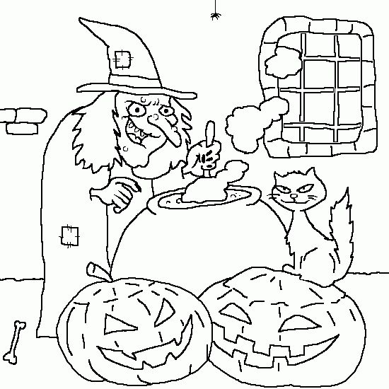 126 best coloriage sorci re images on pinterest coloring pages crayon art and halloween witches - Coloriage halloween sorciere ...