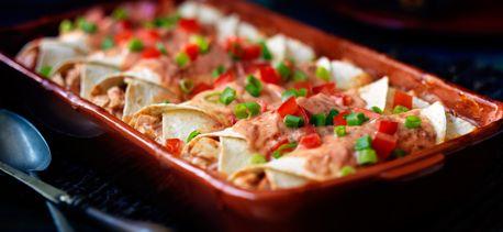 Cook with Campbells. Enchiladas au poulet et au fromage