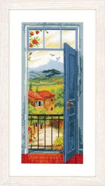 Vista sulla Toscana da Vervaco - Paesaggi - Kit Ricamo - Casa Cenina