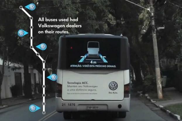 VW Gets Buses to Tell Cars to Keep Their Distance - Interactive (video) - Creativity Online
