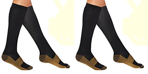 ASR Socks 2 Pairs LgXL Compression Copper Socks Graduated Below Knee High Mens and Womens Nursing Compression Sock Foot Calf Ankle Support Pain Relief Stockings ** Check this awesome product by going to the link at the image.Note:It is affiliate link to Amazon.