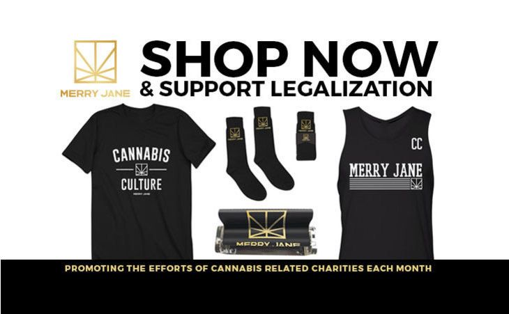 Mar 23: HELP LEGALIZE IT BY SHOPPING WITH MERRY JANE. Grab some gear that shows your love for cannabis culture and help legalize it in the process by shopping our MERRY JANE store.  Each month, MERRY JANE will support and promote a pro-cannabis non-profit organization.  First up, NORML whose mission is working to legalize marijuana, stop arrests of smokers, provide educational research, and legal information, move public opinions and to serve as an advocate for consumers.