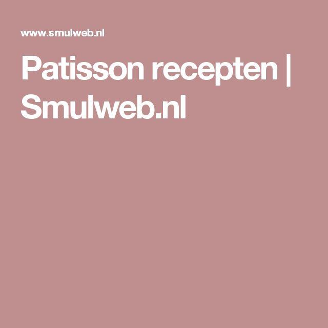 Patisson recepten   Smulweb.nl