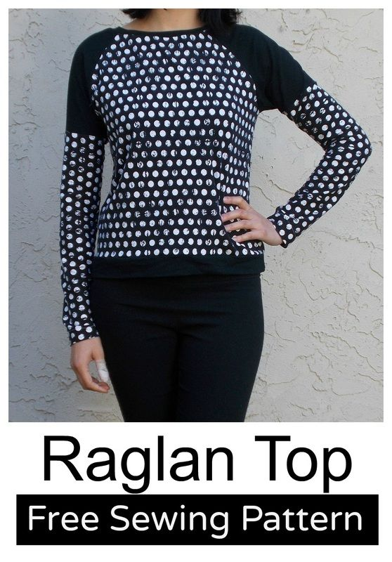 Raglan Top: Long Sleeve PDF Free Pattern and Tutorial. #isew #sewing