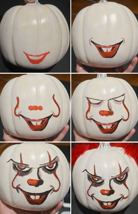 How To Paint Your Own Pennywise Pumpkin