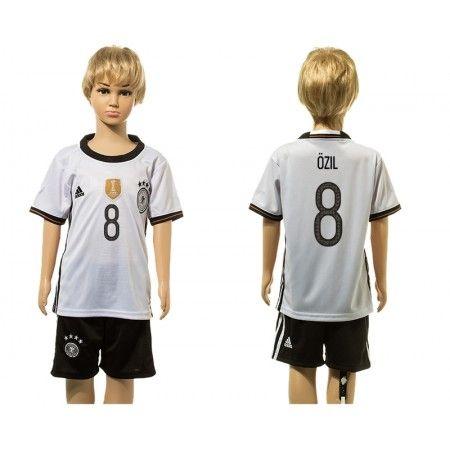 Tyskland Trøje Børn 2016 #Ozil 8 Hjemmebanetrøje Kort ærmer.199,62KR.shirtshopservice@gmail.com